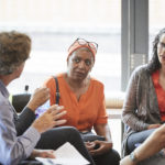 Westway Trust colleagues in a group discussion